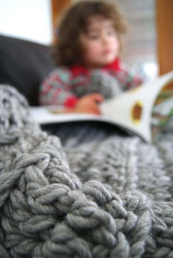 Hey, I found this really awesome Etsy listing at https://www.etsy.com/au/listing/248782310/chunky-crochet-throw-blanket-soft-grey