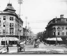 """Saint-Laurent marks the dividing line down the centre of Montréal, for it is here that street numbers start and proceed east and west. This cosmopolitan artery, also known as """"The Main,"""" has been home to generations of immigrants as they began their new life in Montréal."""