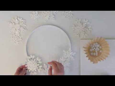 Make a Snowflake Wreath Using the ScanNCut by Brother - YouTube