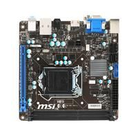 MSI H81I (7851-040R)  - Supoorts 4th Gen Intel Core /Pentium /Celeron processors for LGA 1150 socket - Supports DDR3-1600/ 1333/ 1066 MHz - USB 3.0  SATA 6Gb/s - Military Class 4: Top Quality & Stability - Military Class Essentials: Total Protection for Military Class Motherboards - OC Genie 4: Overclock in 1 Second - Click BIOS 4: Easily Fine-tune Your System - 4K UHD Support: Ultra-high Definition Visual Experience - 3 Digital Display Outputs: DisplayPort/HDMI/DVI Support - Command Center…