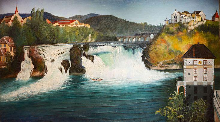 Csontváry Kosztka Tivadar - 1903 - Schaffhauseni vízesés - Csontváry Kosztka Tivadar - Wikimedia Commons
