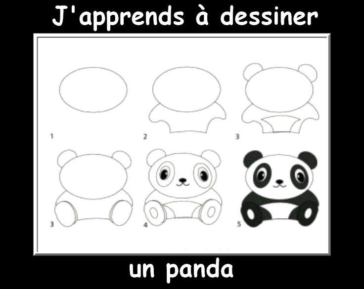 Populaire Les 25 meilleures idées de la catégorie Comment dessiner un panda  UR08