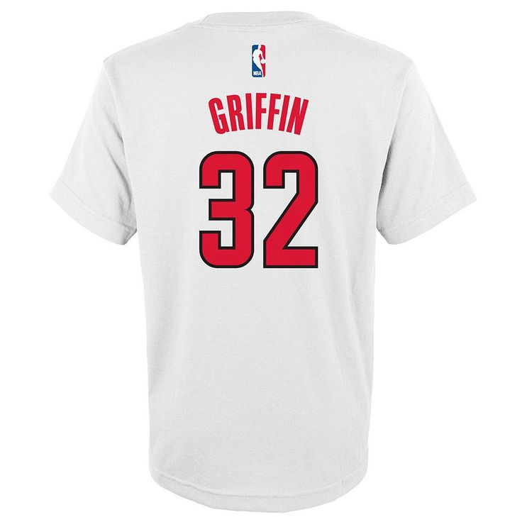 Boys 8-20 Adidas Los Angeles Clippers Blake Griffin Player Tee, Size: Xl(18/20), White