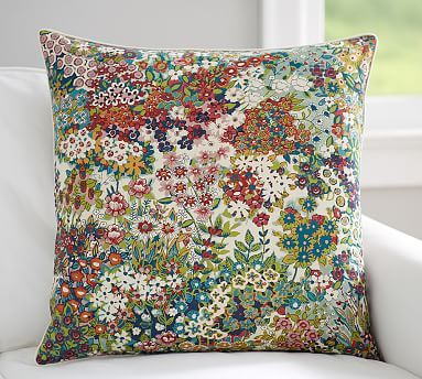 Spring Blossom Print Pillow Cover | Pottery Barn | So much more lovely in person