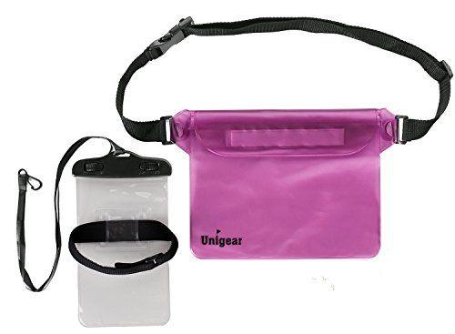 Unigear Pochette étanche à ceinture / Pochette Imperméable avec sangle réglable pour des Sports Aquatiques Camping Nautique Kayak Pêche…