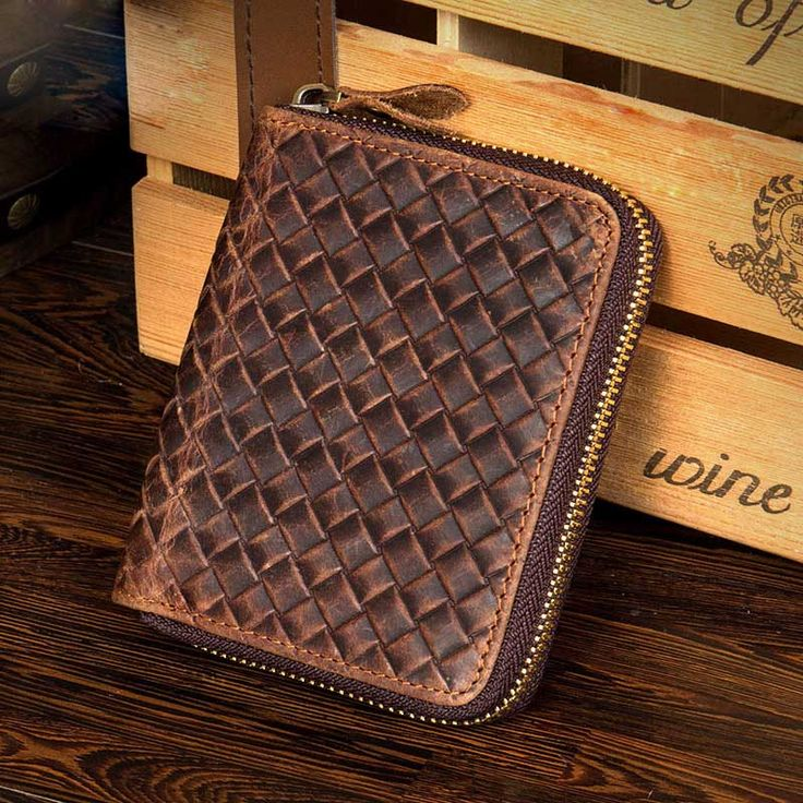 NEWEEKEND 9039 Vintage Genuine Leather Cowhide Crazy Horse Smooth One Fold Short Thin Cash Change Card Wallet Purse for Man