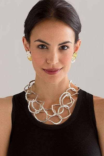 Splendore Jewelry: Emanuela Duca: Sterling Silver Necklace - Artful Home  #Fashionable #Jewelry