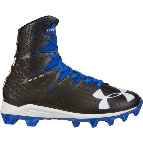 Under Armour Boys' Highlight RM Junior Football Cleats (Black/Team Royal, Size 4.5) - Youth Football Shoes at Academy Sports