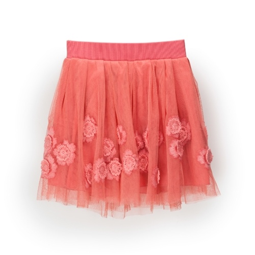 Little Marc Jacobs - Girl's Lace and Flower Embellished Skirt - Pink