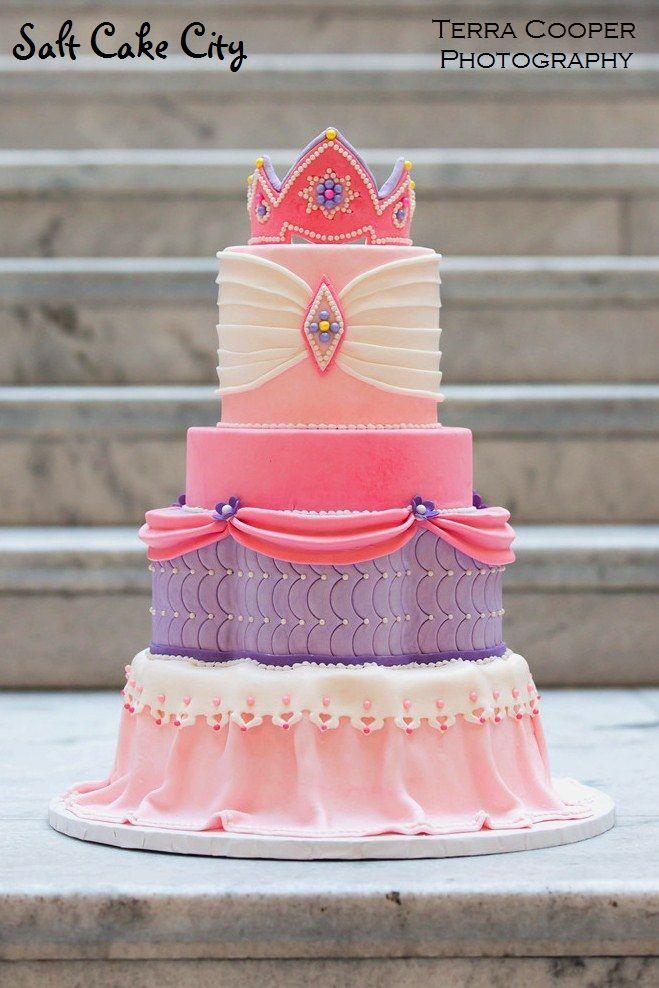 Pink & Purple Princess Cake