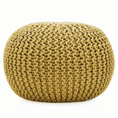 Soft Knitted Cushion Pod Pouffe Foot Stool Seating