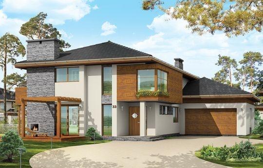 Projekt Południowy to komfortowy, bardzo oryginalny dom, o nowoczesnej architekturze. Zaprojektowano go z myślą o 4-5 osobowej rodzinie. Dom, dzięki otwarciu części dziennej na kilka stron świata może być adaptowany zarówno na działce z niekorzystnym wjazdem od strony południowej, jak i na działce z wjazdem od strony północnej lub bocznej (wschodniej lub zachodniej)