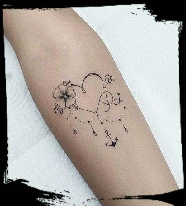 Tattoo Schriften Name Im Herz Kindernamen 5