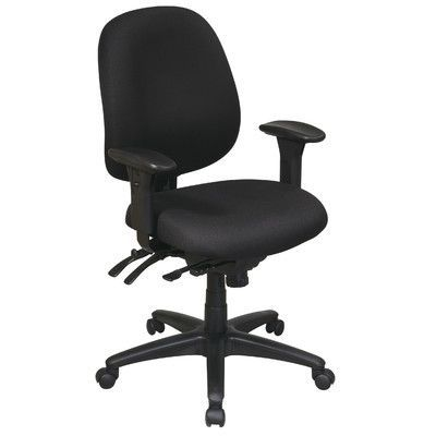 Office Star Work Smart Mid-Back Multi-Function Ergonomic Office Chair Upholstery: