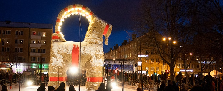 The famous Gävle goat in Sweden. Photo by Juho Ruohola.