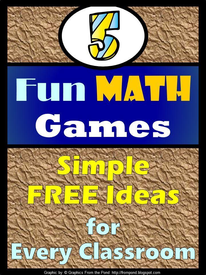 FREEBIE - Fun Games 4 Learning: 5 Favorite Math Games