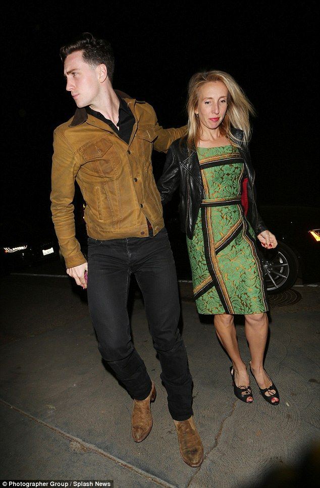 Date night: Aaron Taylor-Johnson and his wife Sam were leading the celebrity arrivals at a...