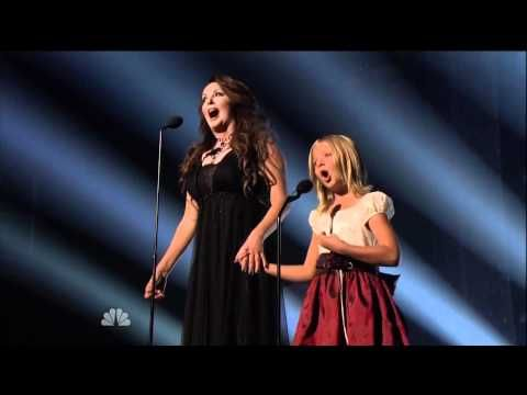 """Jackie Evancho & Sarah Brightman """"Time to Say Goodbye"""" on America's Got Talent FINALE"""