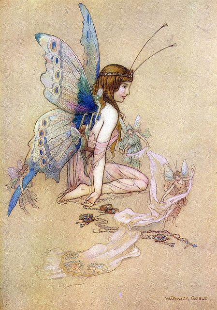thefae:    Fairies, Large and Small by Warwick Goble
