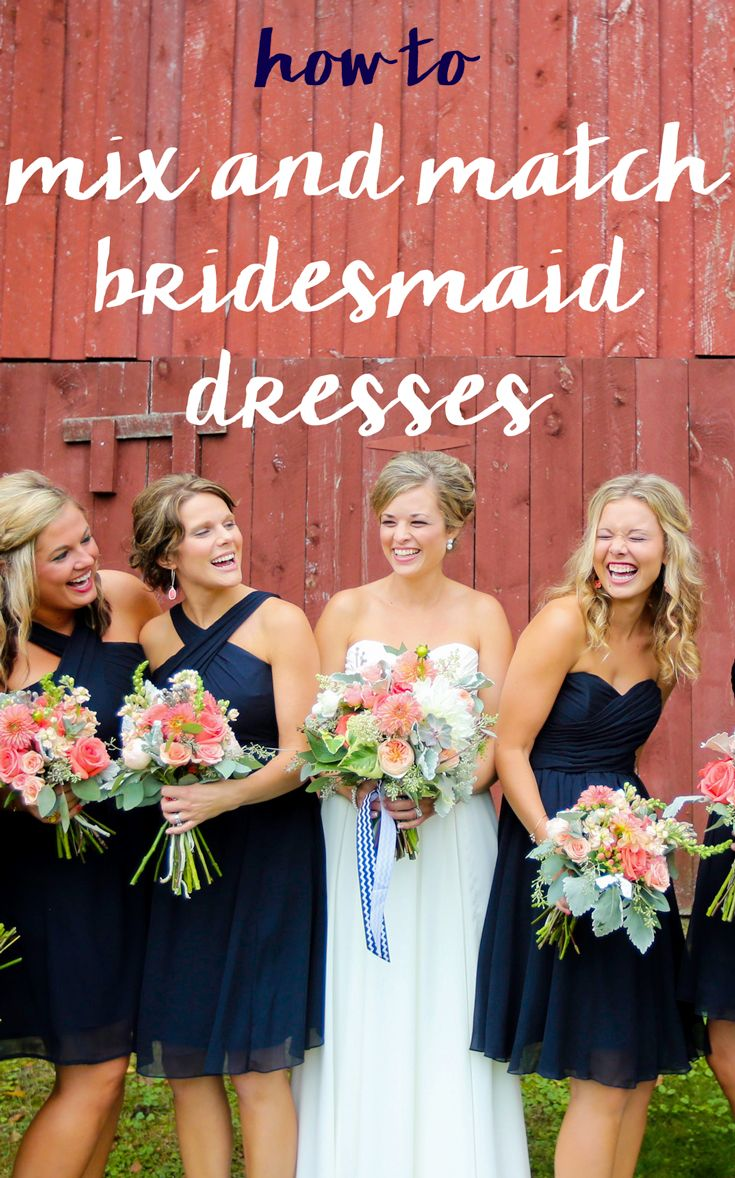 A guide on how to mix and match bridesmaid dresses for a trendy look that isn't tacky!