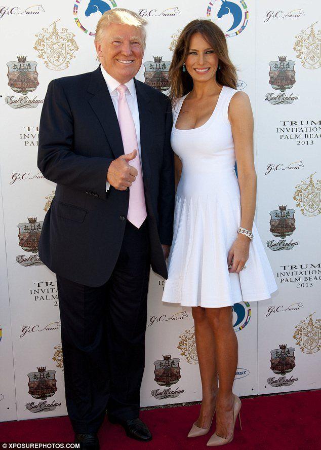 Melania Trump + White Dress