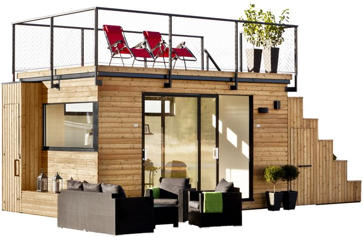 Swedish cabin with roof top garden and retractable outdoor kitchen. I could do this. But only if it's an INDOOR/outdoor kitchen.