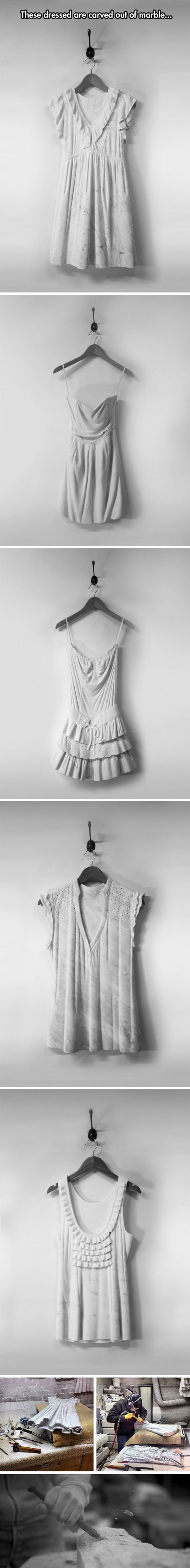 Dresses Carved From Marble