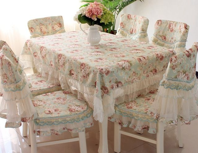 Aliexpress.com : Buy Dining Table Set Lace Table Cloth Tablecloth 6 1  Rustic Dining
