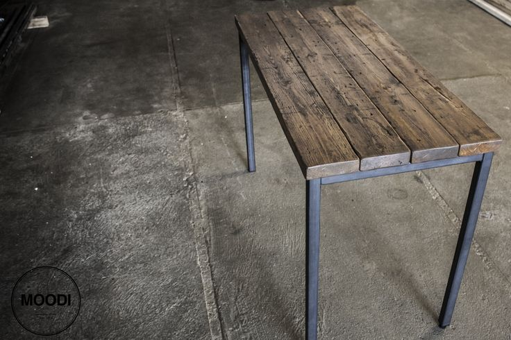 Custome made desk from moodi.dk  110 cm x 50 cm iron and wood.