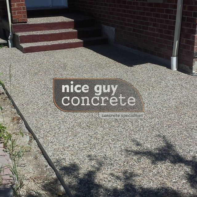 exposed aggregate concrete contractor in #Mississauga, Ontario #exposedaggregate #concretecontractor