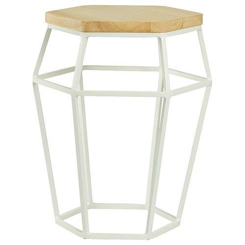 Ford Side Table/Stool - Oak & White