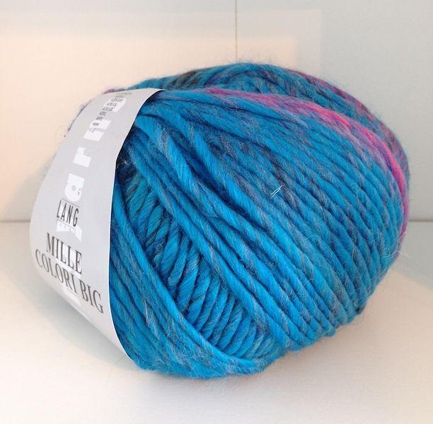laine mille colori big bleu et rose de ches lang yarns rose colori big - Laine Lang Mille Colori
