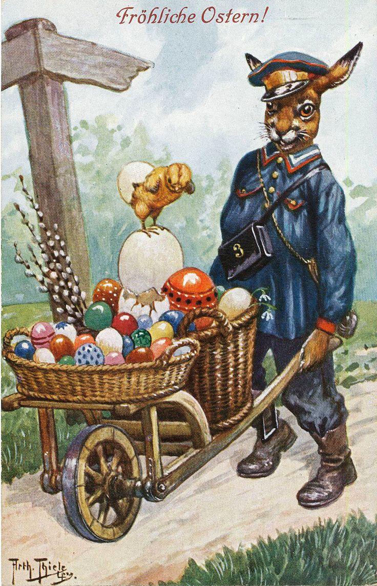 День пожилого, открытки на немецком пасха