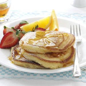 Orange Ricotta Pancakes Recipe from Taste of Home