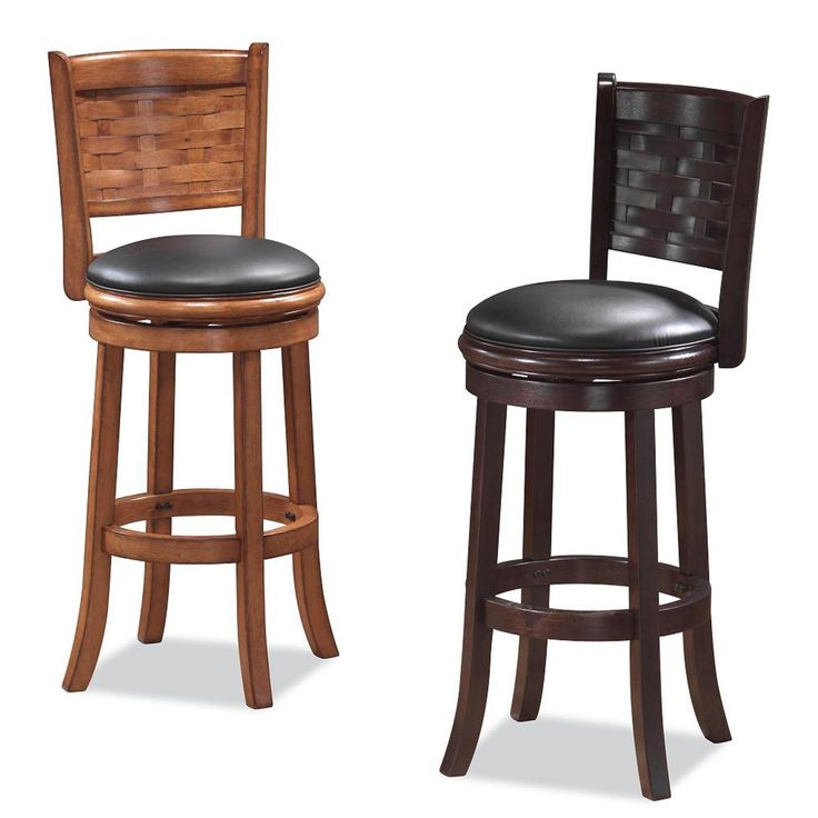 Boraam Sumatra 24 in. Swivel Counter Stool - The BoraamSumatra 24 in. Swivel Counter Stool is available in a variety of finishes and features a unique basket weave pattern insert in the contoured...