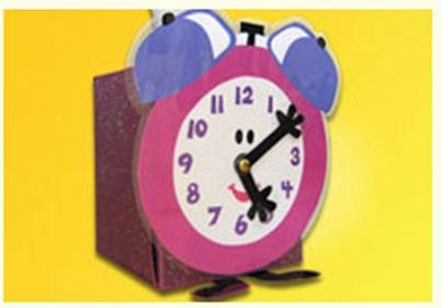 Turn an empty tissue box into a tool for teaching preschoolers how to tell time with our printable clock face!