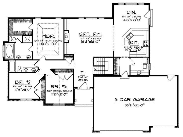 Ranch Style Open Floor Plans With Basement House Plans Floor Plans Ranch House Plan With Loft Open Ranch Floor Plans