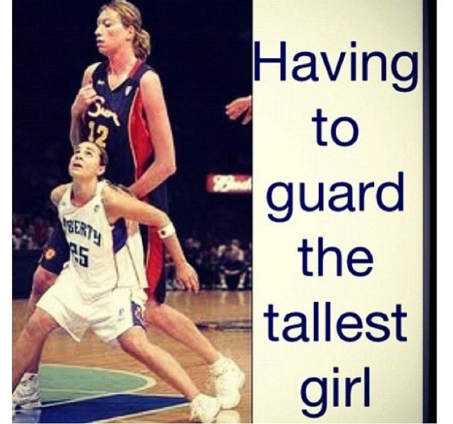 I had a really short girl on my team who would some how always ended up guarding the tallest girl... and she was really good at it!