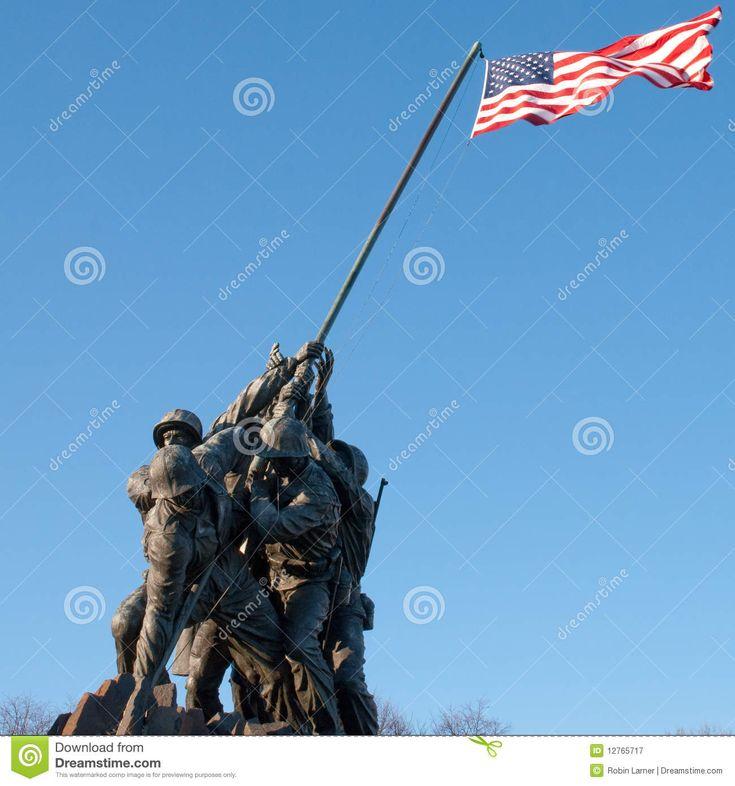 Iwo Jima Memorial stock image. Image of brave, courage - 12765717