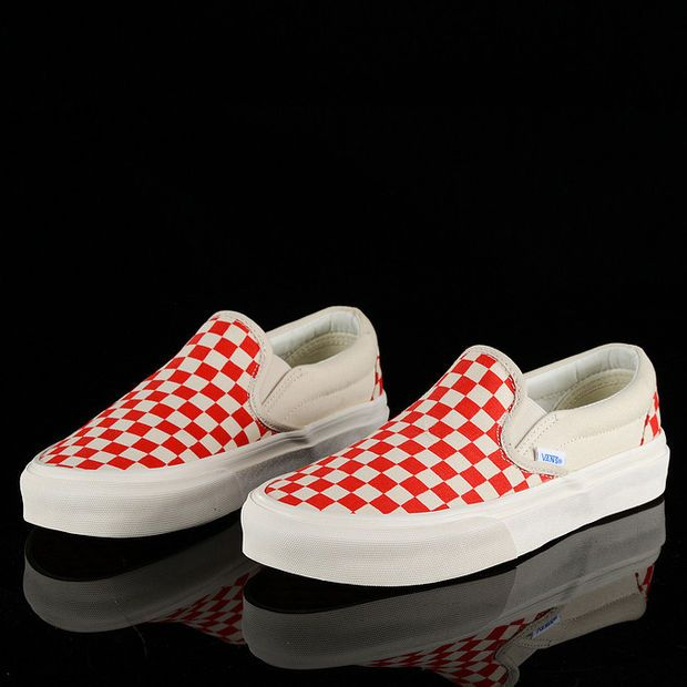 85a1d75d4d Trendsetter Vans Vault OG Classic Slip-On Lx Canvas Old Skool Checkerboard  Flats Shoes Sneakers