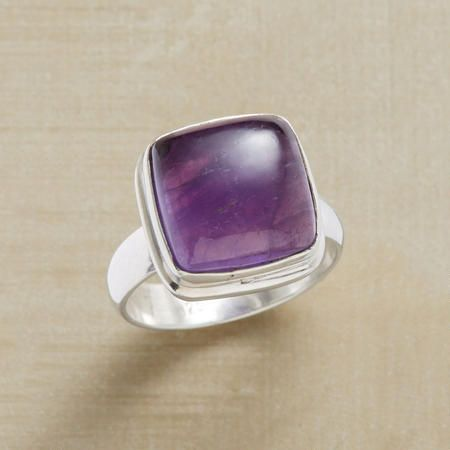 ELEVATED AMETHYST RING It will be mine!! My birth stone.. Love it!