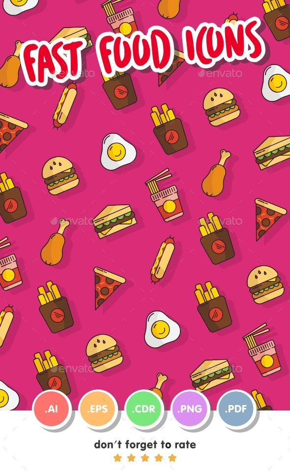 Fast Food Icon Set Iconos Food Icons Icon Set Icon