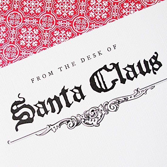 Printable Santa Claus Stationary - Suggestion: Your Elf On The Shelf could bring a letter back from his nightly trip to the North Pole.
