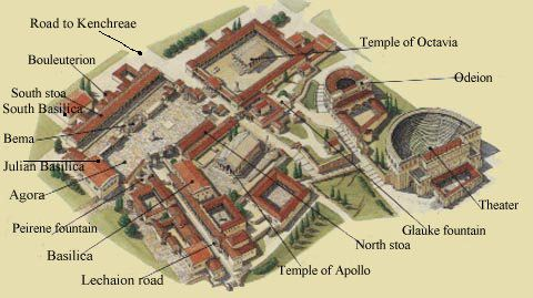 Corinth Temple of Aphrodite   Representation of Ancient ...