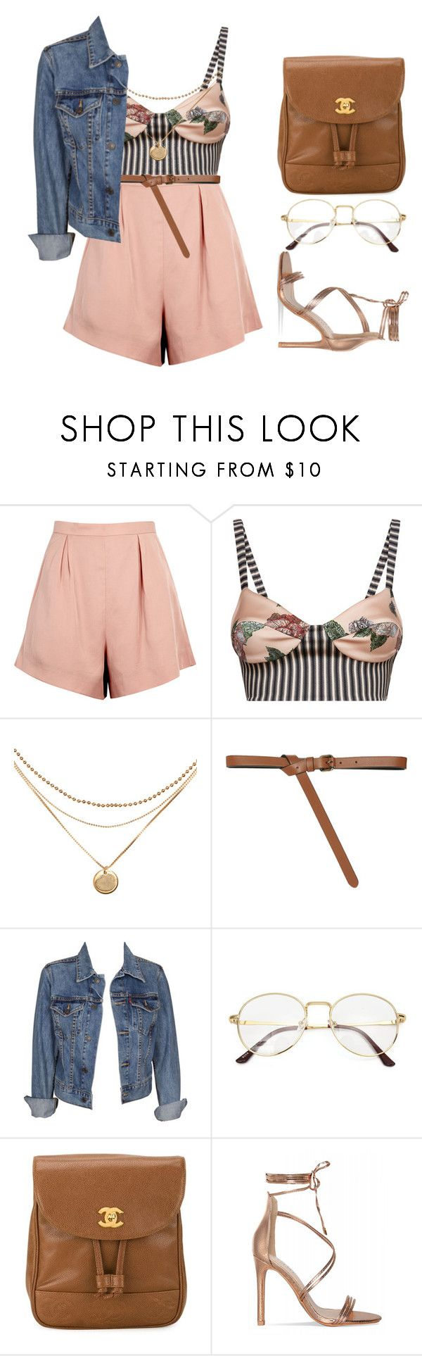 @readyornot? by melanie-pacheco on Polyvore featuring moda, Levi's, La Perla, Finders Keepers, Chanel and Paule Ka