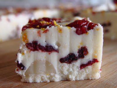 White Chocolate Cranberry Orange Fudge