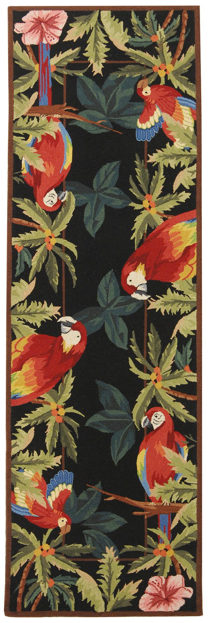 the  best tropical novelty rugs ideas on pinterest  tropical  - chelsea tropical parrot novelty area rug