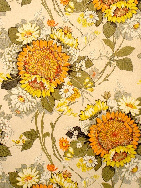 sunflower - vintage wallpapers
