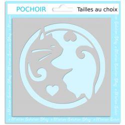 Pochoir Adhésif Chats ying et Yang repositionnable
