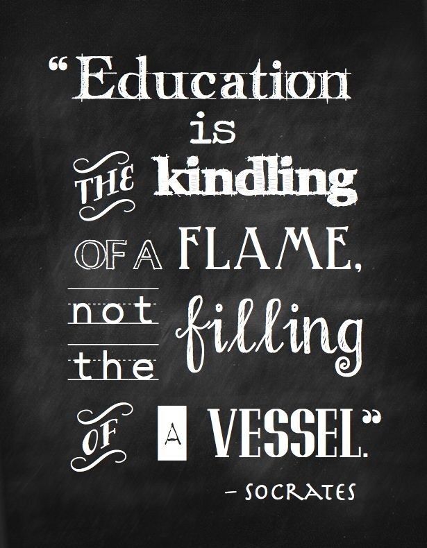 "FREE ""Education Is…"" Chalkboard Printable 